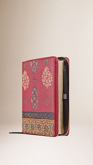 Ziparound Floral Print Grainy Leather 18 Month 2015/16 A5 Diary