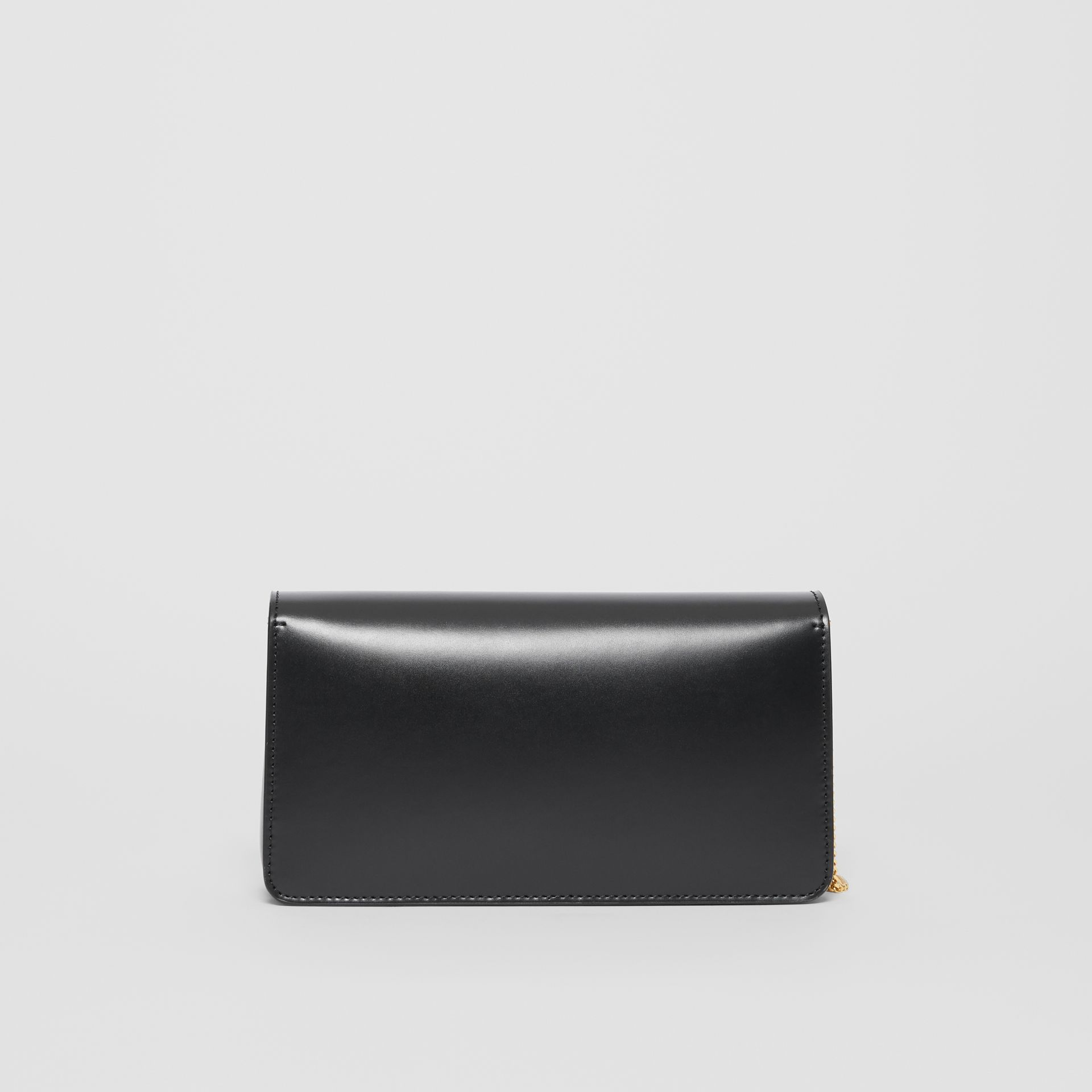 Leather Grace Clutch in Black - Women | Burberry - gallery image 7