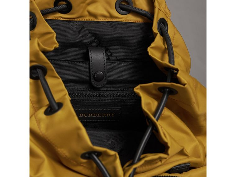 The Large Rucksack in Technical Nylon and Leather in Ochre Yellow - Men | Burberry - cell image 4