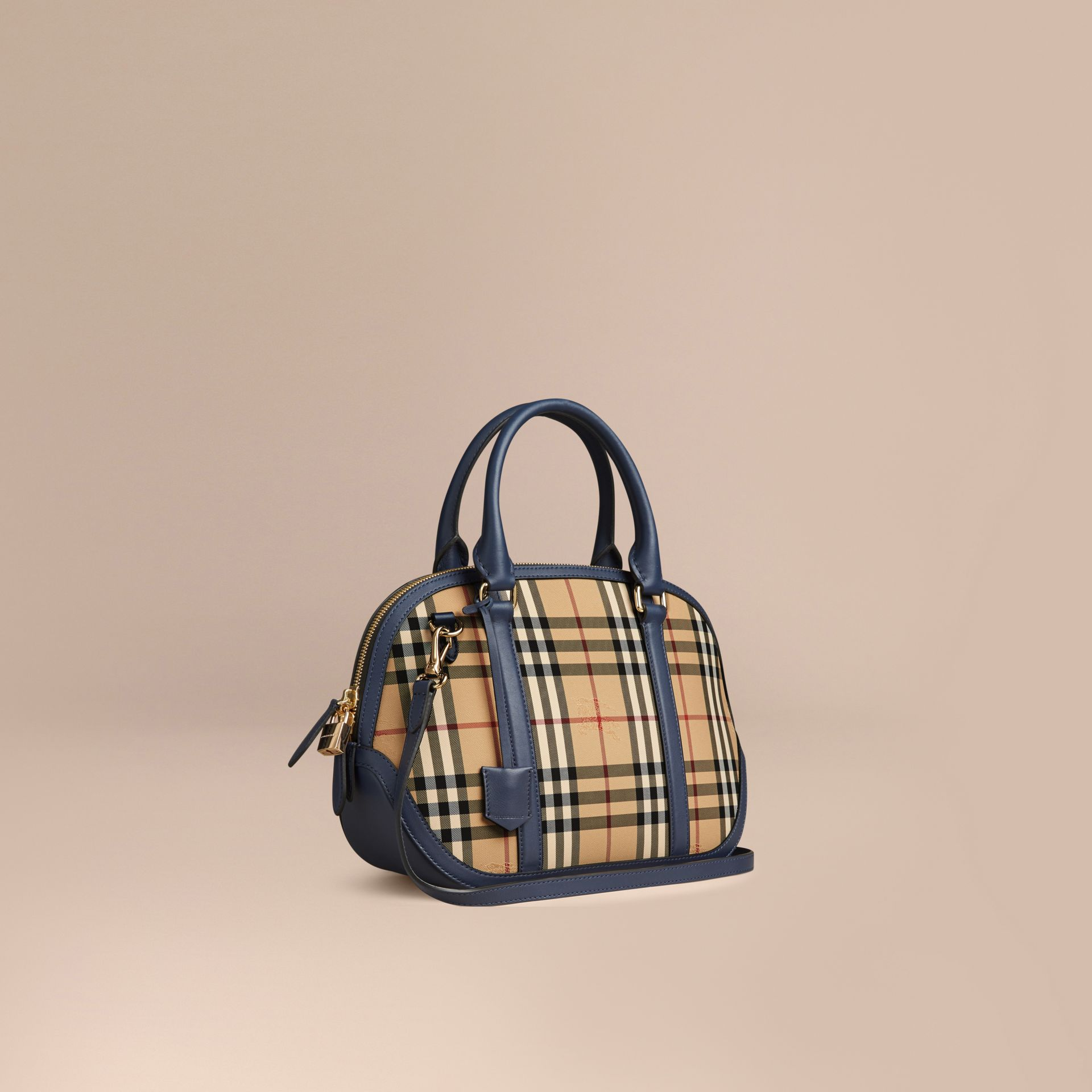 Honey/brilliant navy The Small Orchard in Horseferry Check Honey/brilliant Navy - gallery image 1