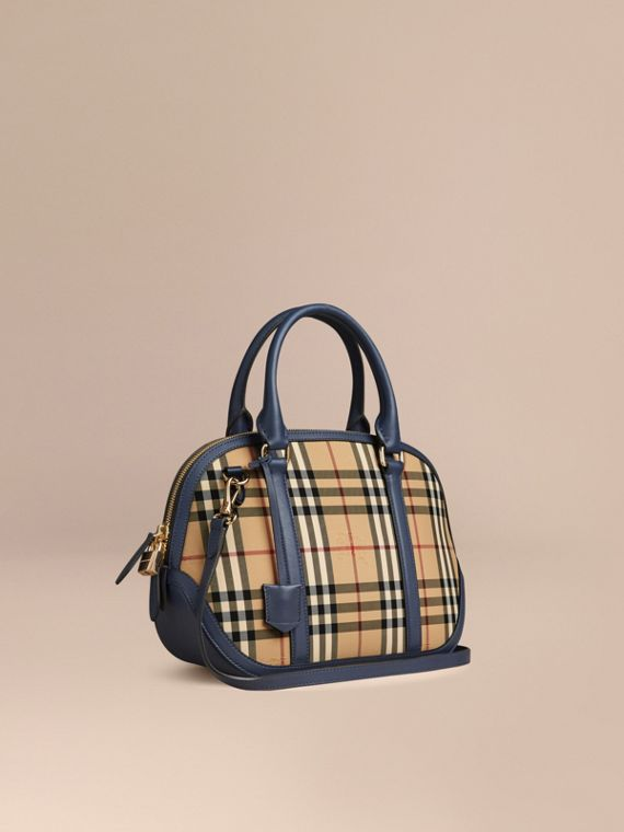 The Small Orchard in Horseferry Check Honey/brilliant Navy