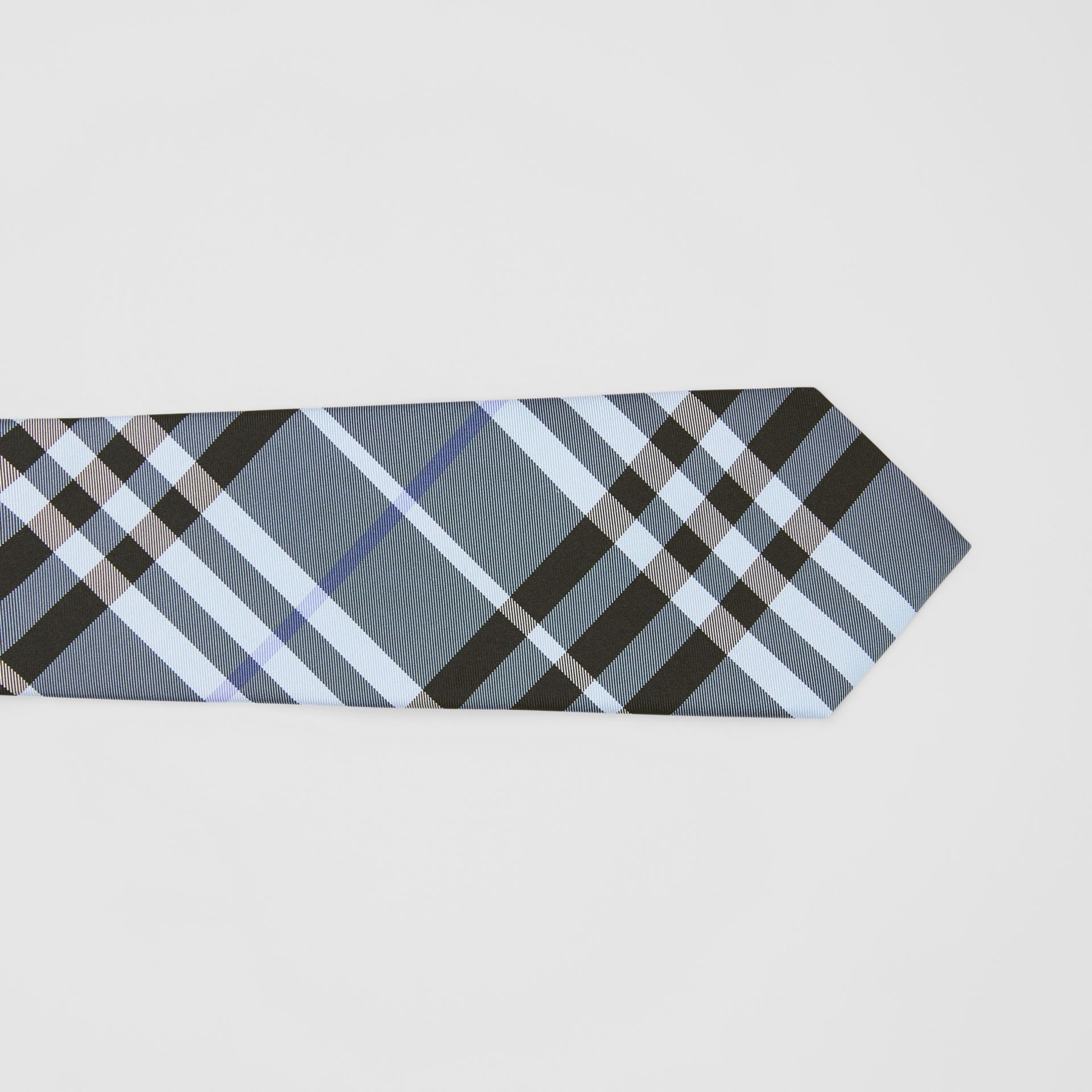 Classic Cut Vintage Check Silk Tie in Light Steel Blue - Men | Burberry Canada - gallery image 1