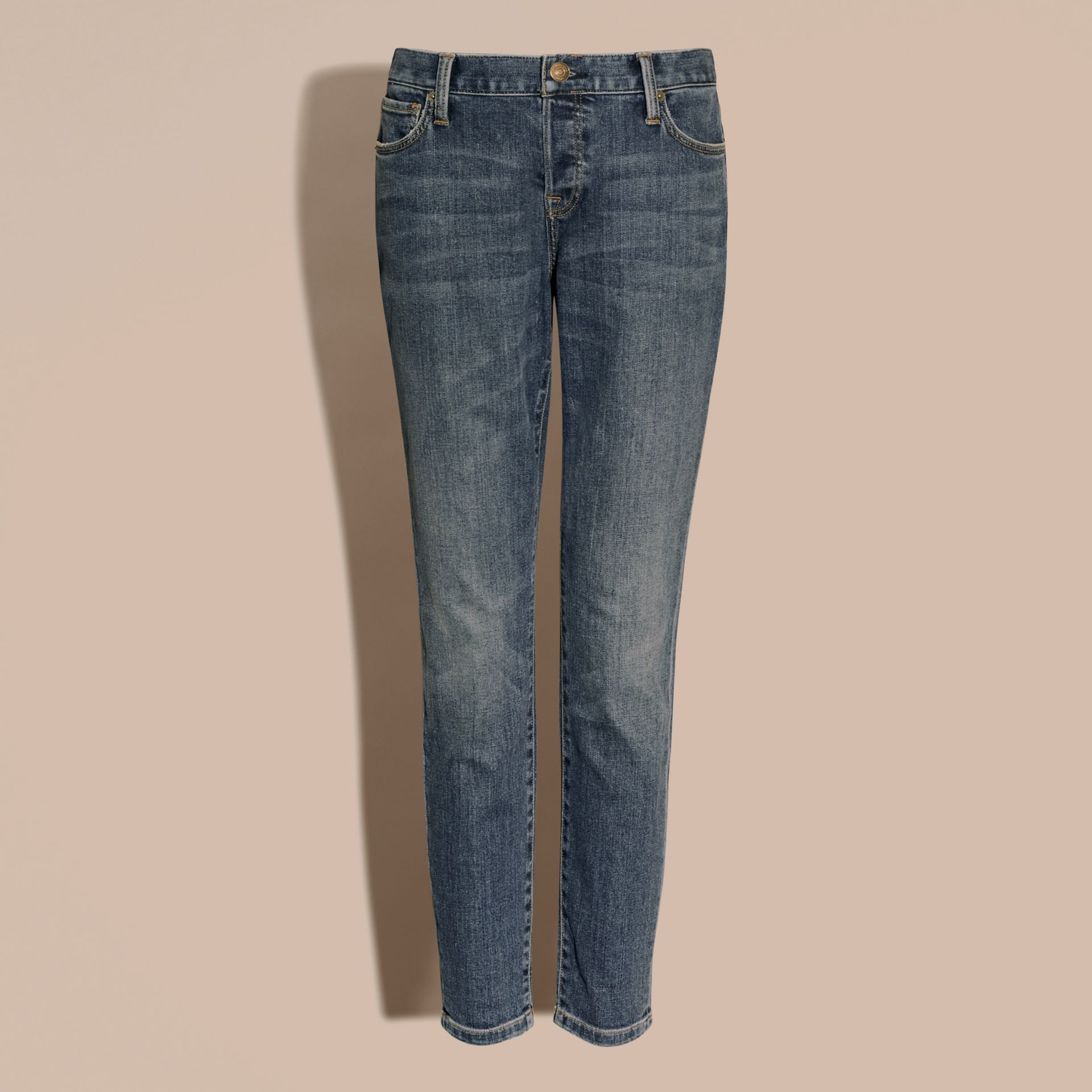 Relaxed Fit Mid-Indigo Jeans - Women | Burberry - gallery image 3