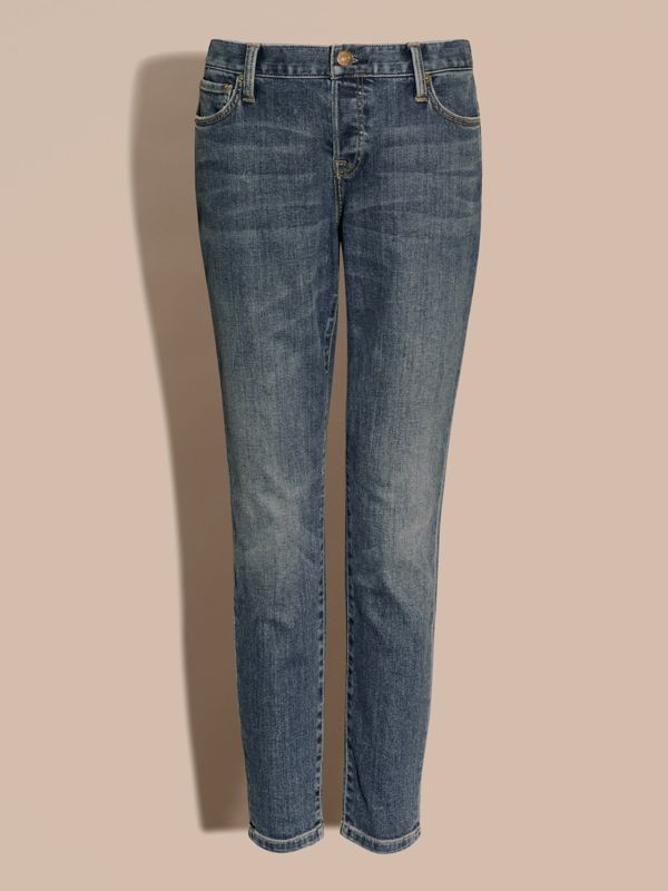 Relaxed Fit Mid-Indigo Jeans - Women | Burberry - cell image 2