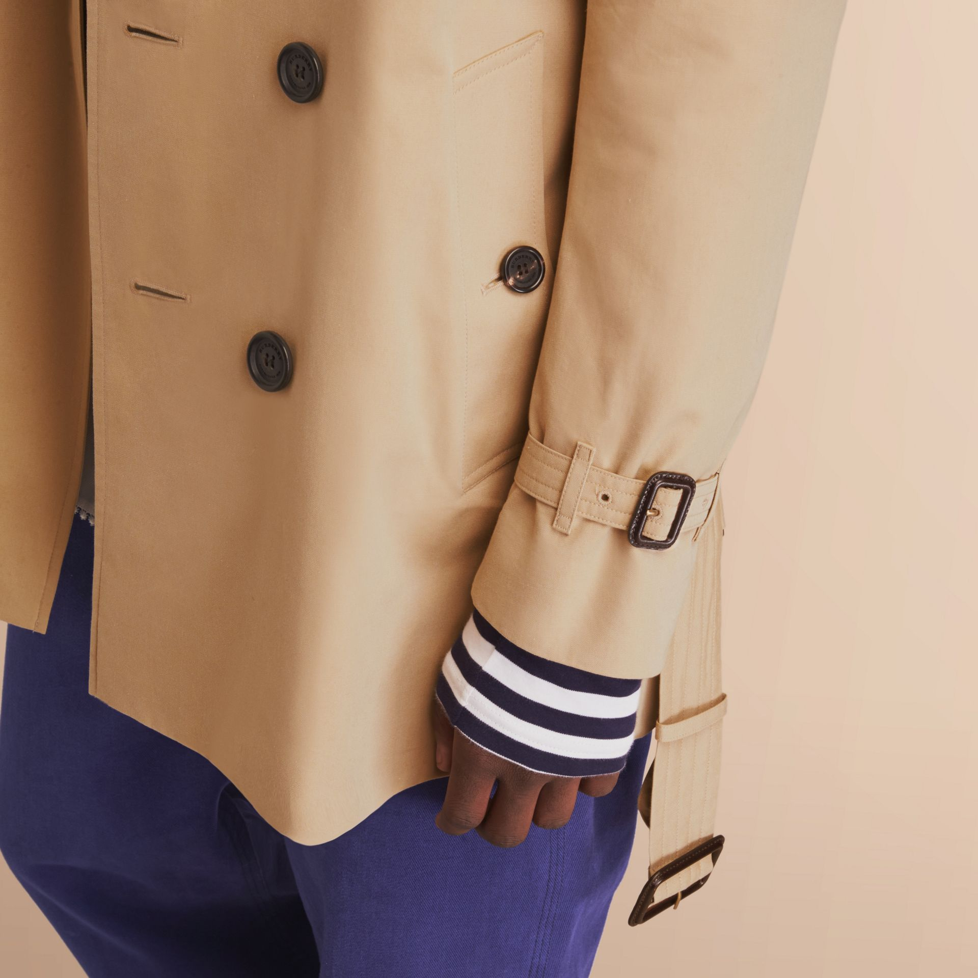 The Kensington – Mid-Length Heritage Trench Coat Honey - gallery image 5