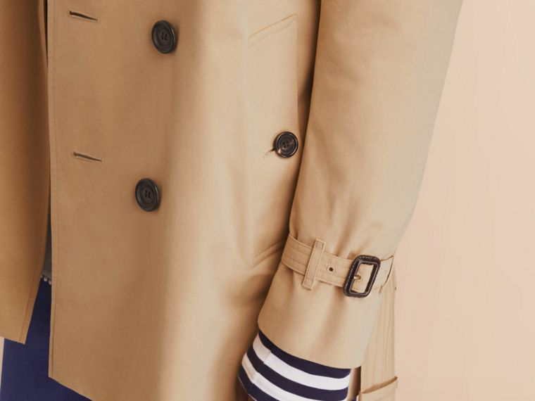 The Kensington – Mid-Length Heritage Trench Coat Honey - cell image 4