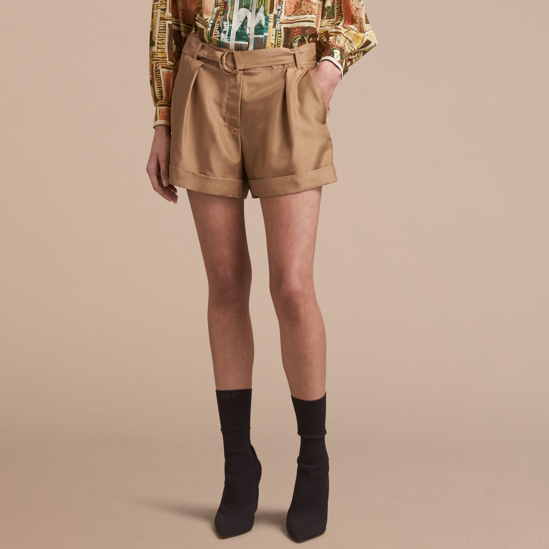 Tailored Silk Shorts - gallery image 6