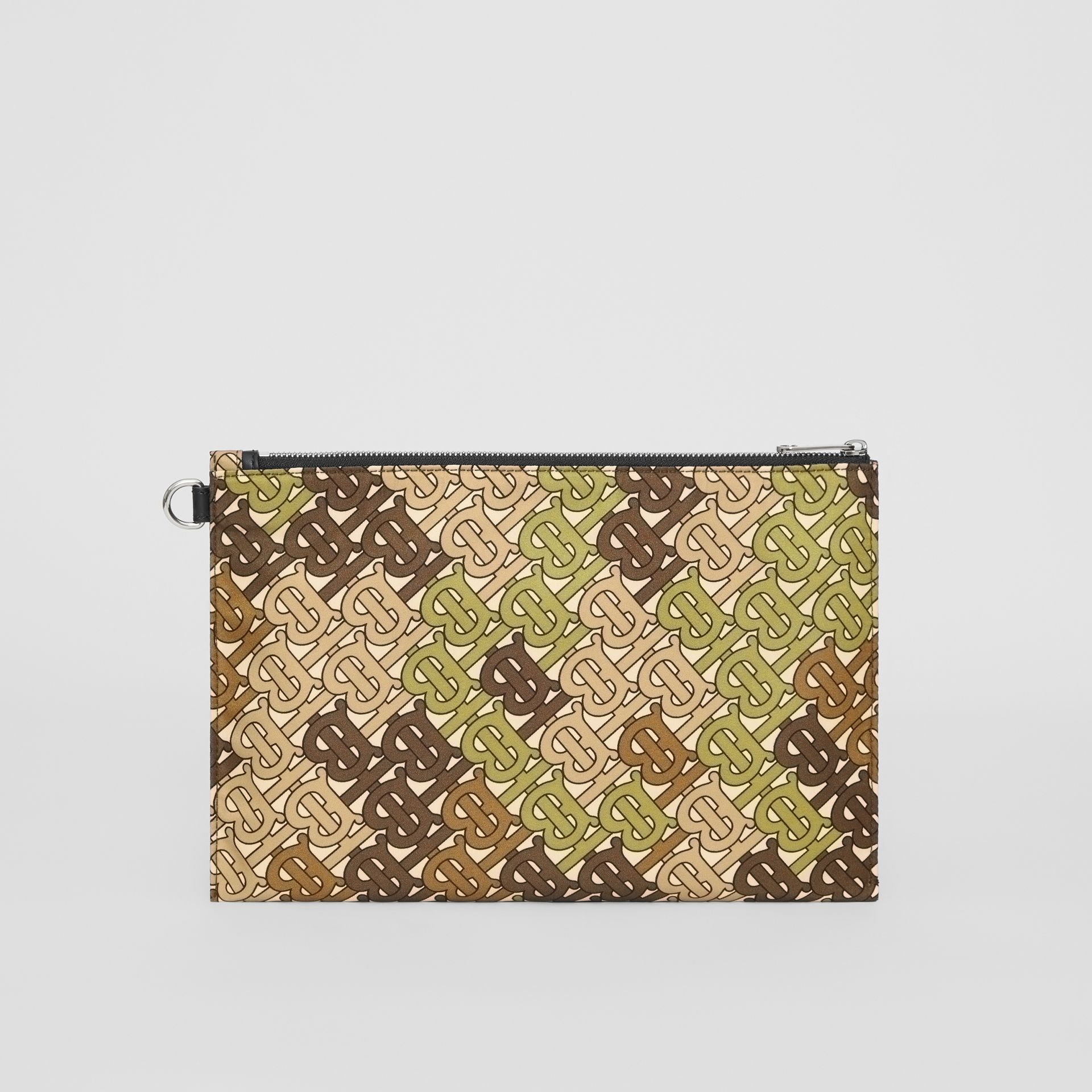 Monogram Print Zip Pouch in Khaki Green - Men | Burberry United Kingdom - gallery image 7