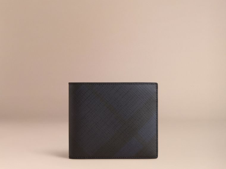 London Check Folding Wallet Navy/black - cell image 4