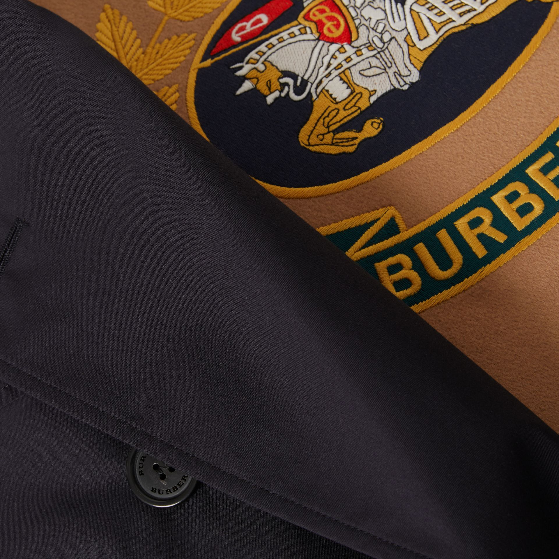 Cotton Gabardine Trench Coat with Warmer in Midnight Navy - Men | Burberry United Kingdom - gallery image 7