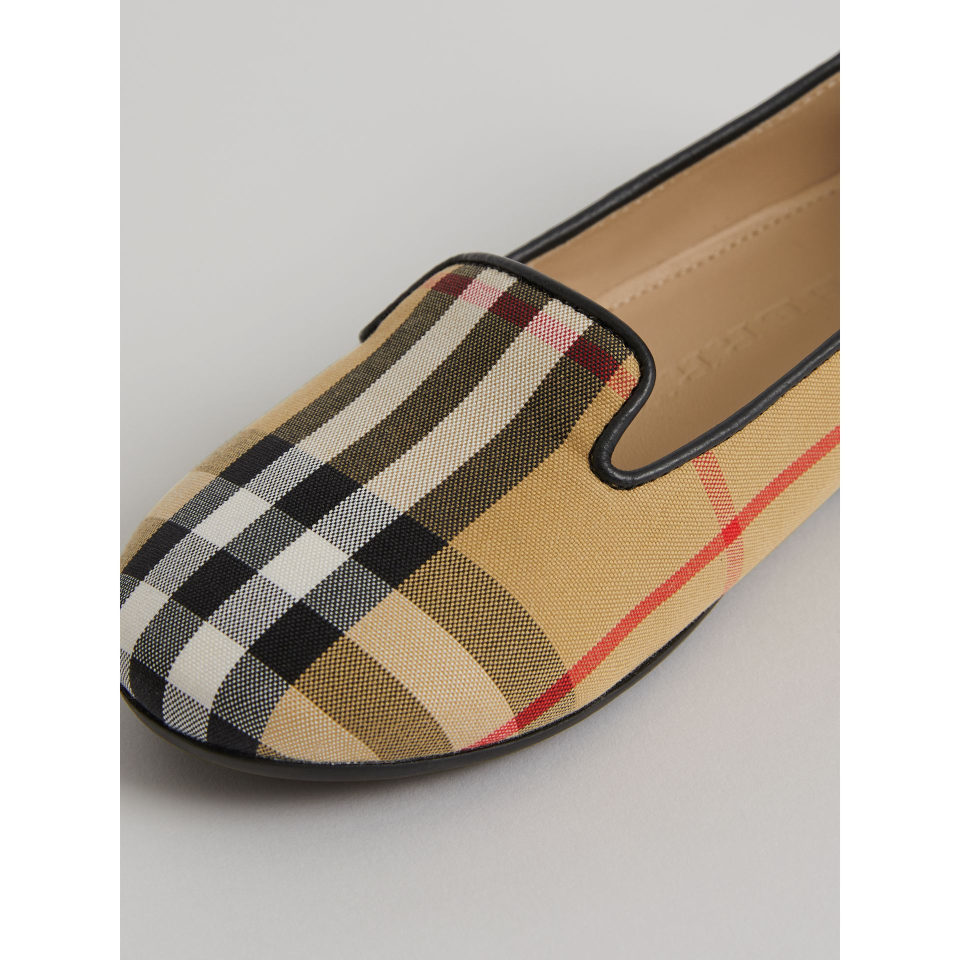 Vintage Check Slippers in Antique Yellow | Burberry United States - gallery image 1