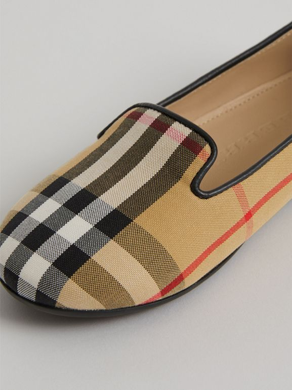 Vintage Check Slippers in Antique Yellow | Burberry United States - cell image 1