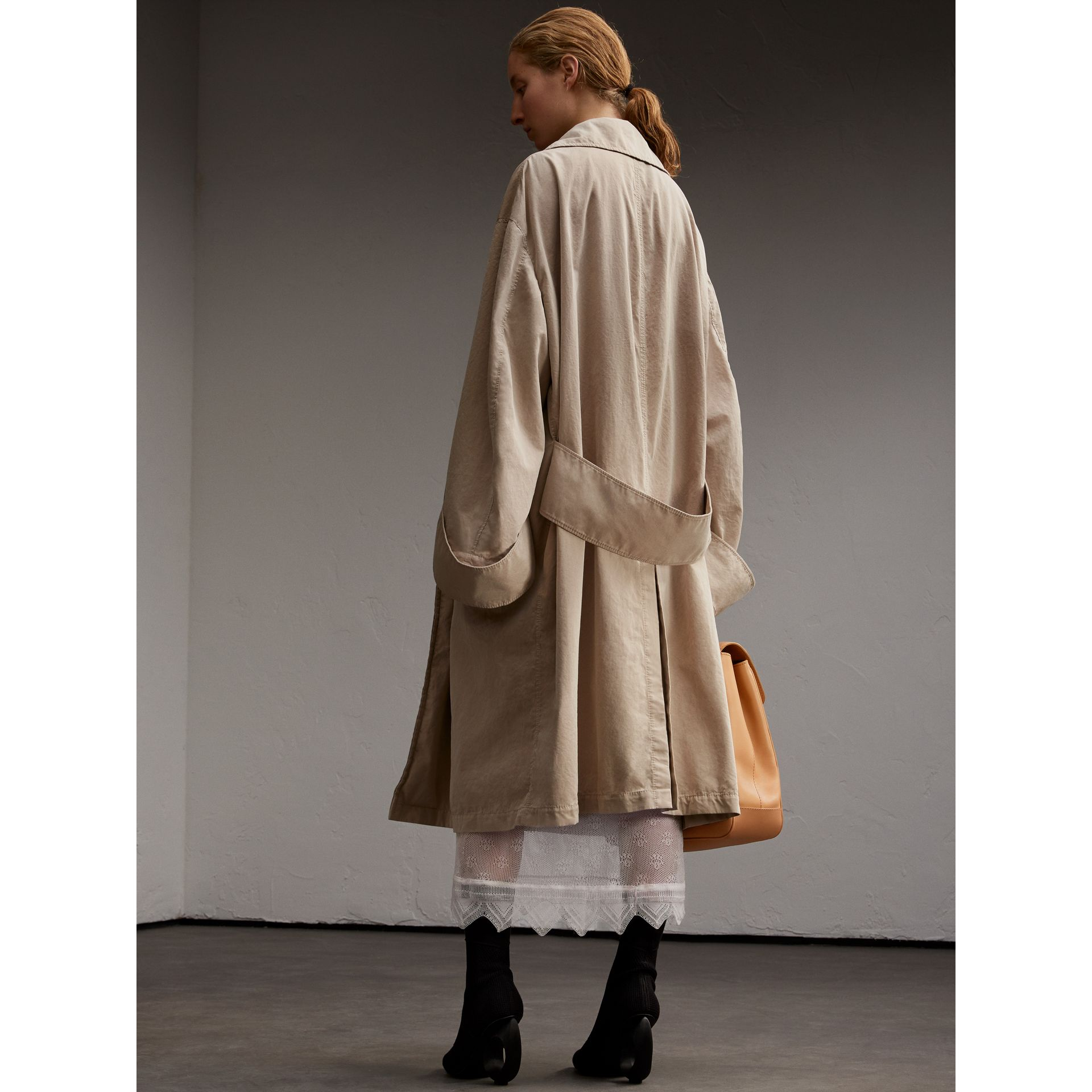 Unisex Tropical Gabardine Car Coat with Exaggerated Cuffs - gallery image 5