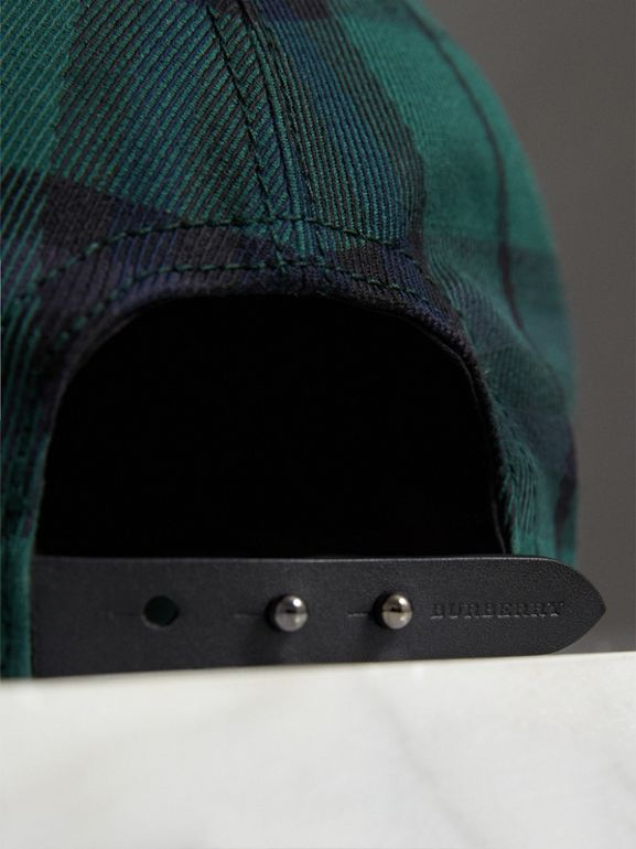 Tartan Baseball Cap in Racing Green | Burberry United Kingdom - cell image 1