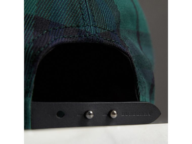 Tartan Baseball Cap in Racing Green | Burberry - cell image 1