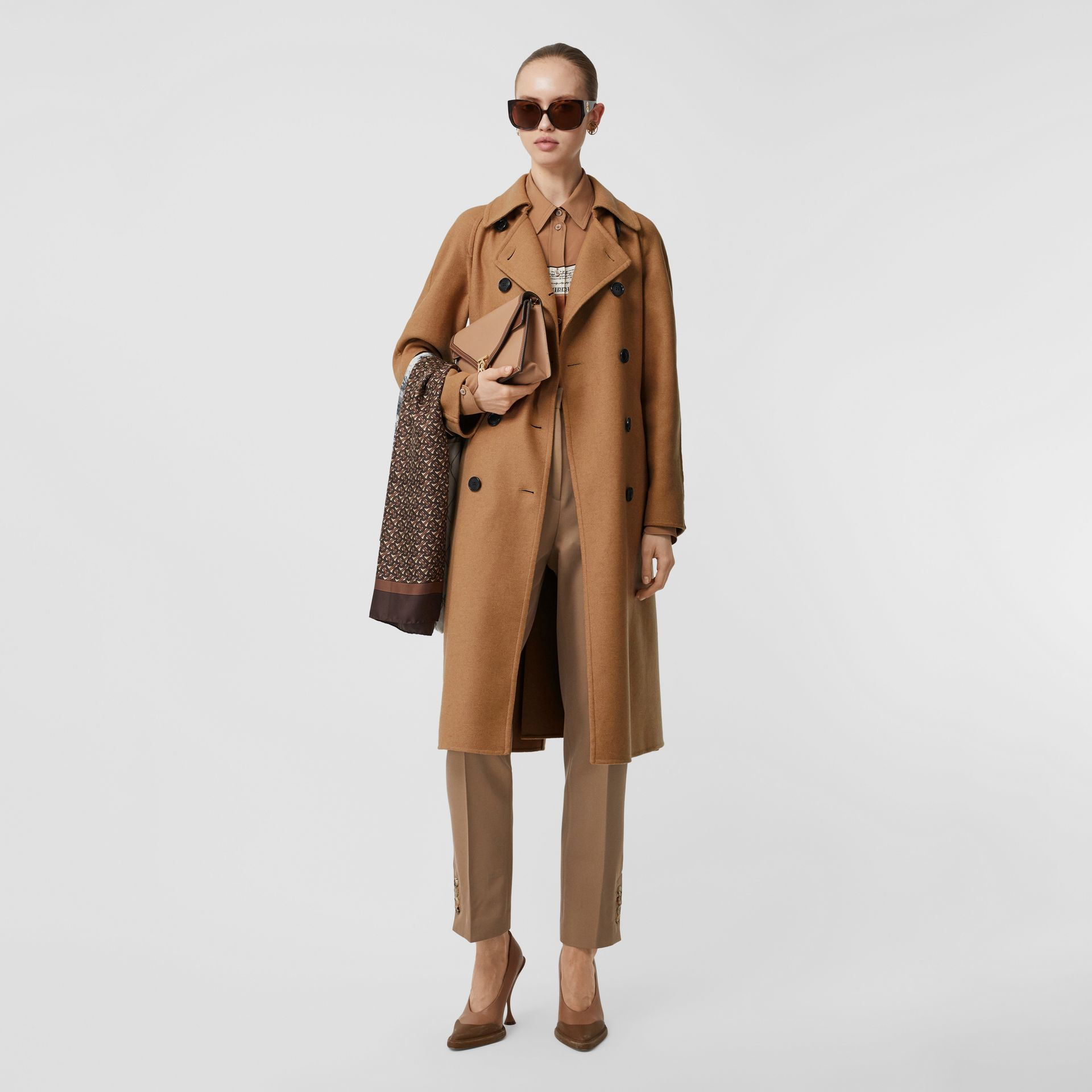 Cashmere Trench Coat in Bronze - Women | Burberry Singapore - gallery image 0
