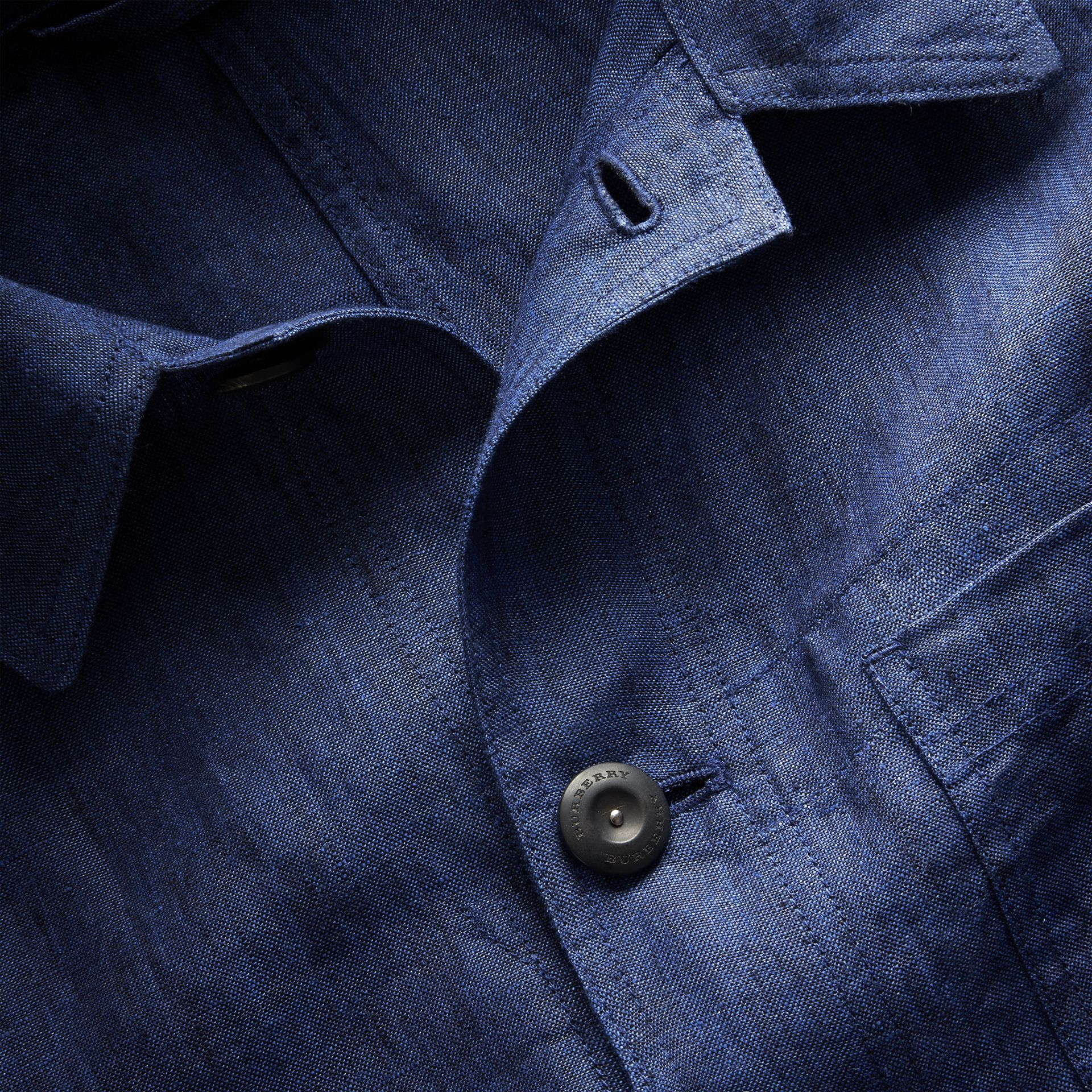 Linen Workwear Jacket - Men | Burberry - gallery image 2
