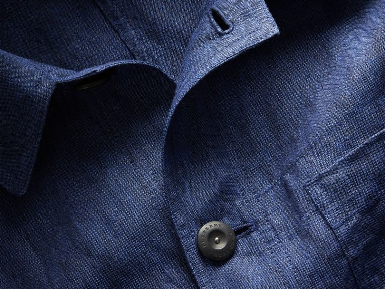Linen Workwear Jacket - Men | Burberry - cell image 1