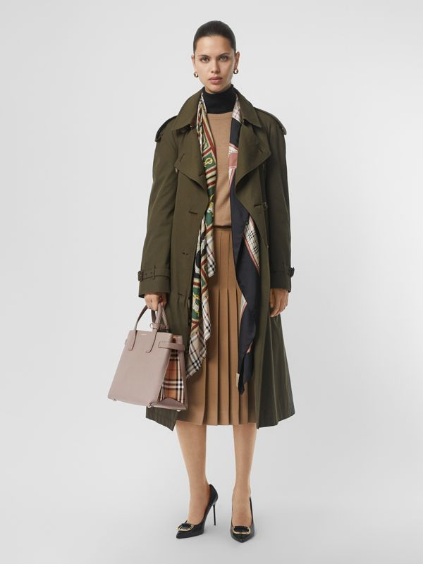 The Medium Banner in Leather and Vintage Check in Taupe Brown - Women | Burberry Singapore - cell image 2