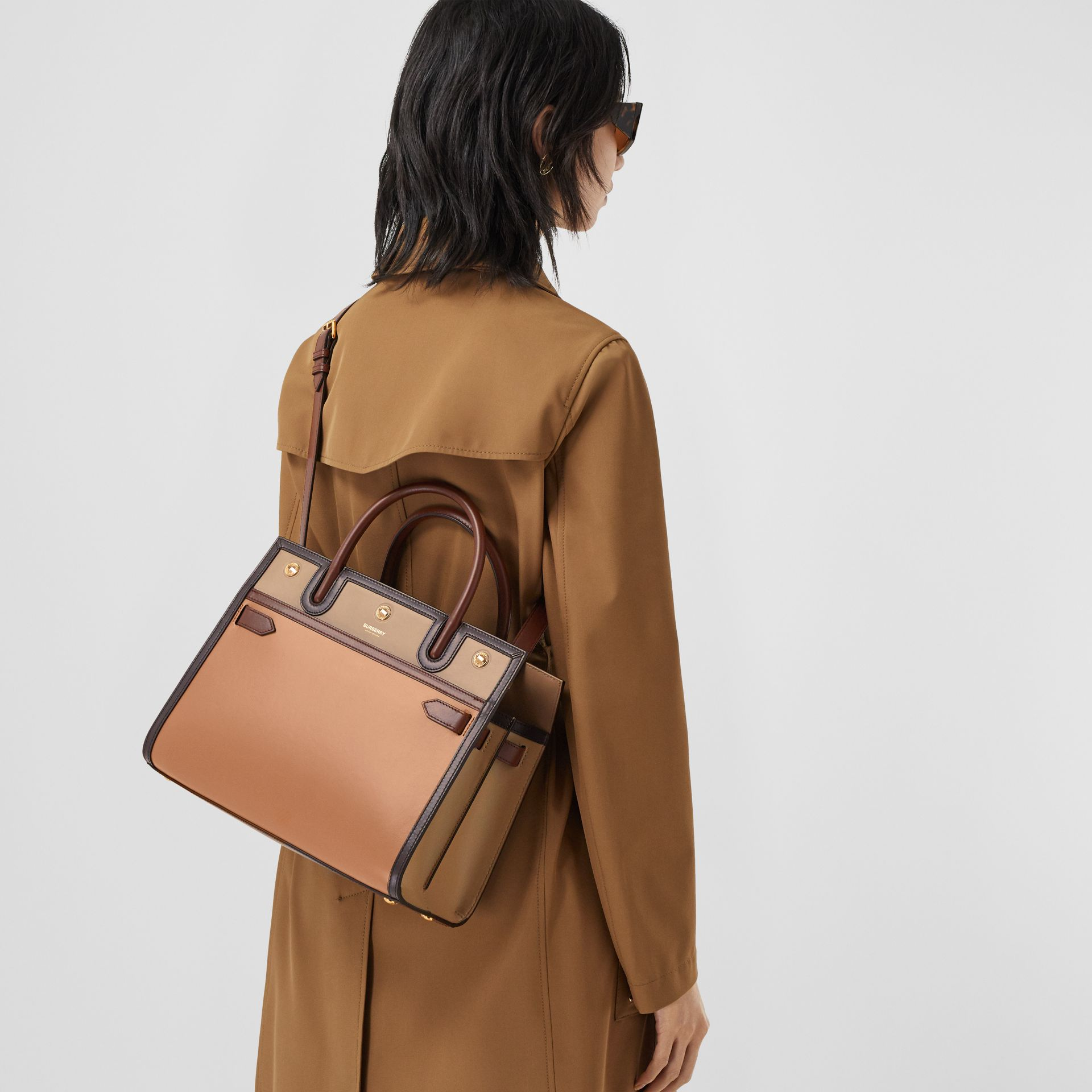 Small Leather Two-handle Title Bag in Soft Fawn - Women | Burberry - gallery image 8