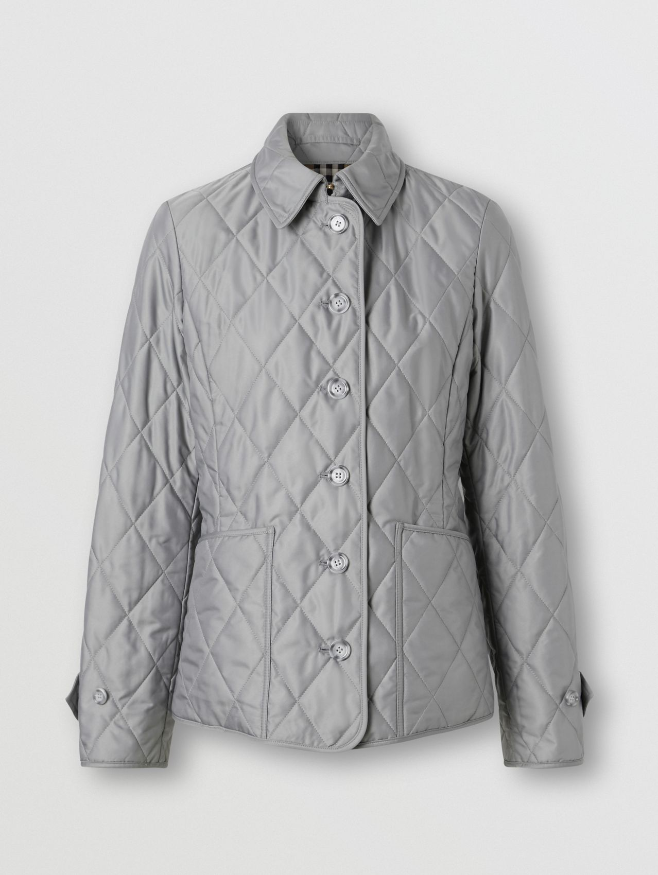 Diamond Quilted Thermoregulated Jacket (Mid Grey)