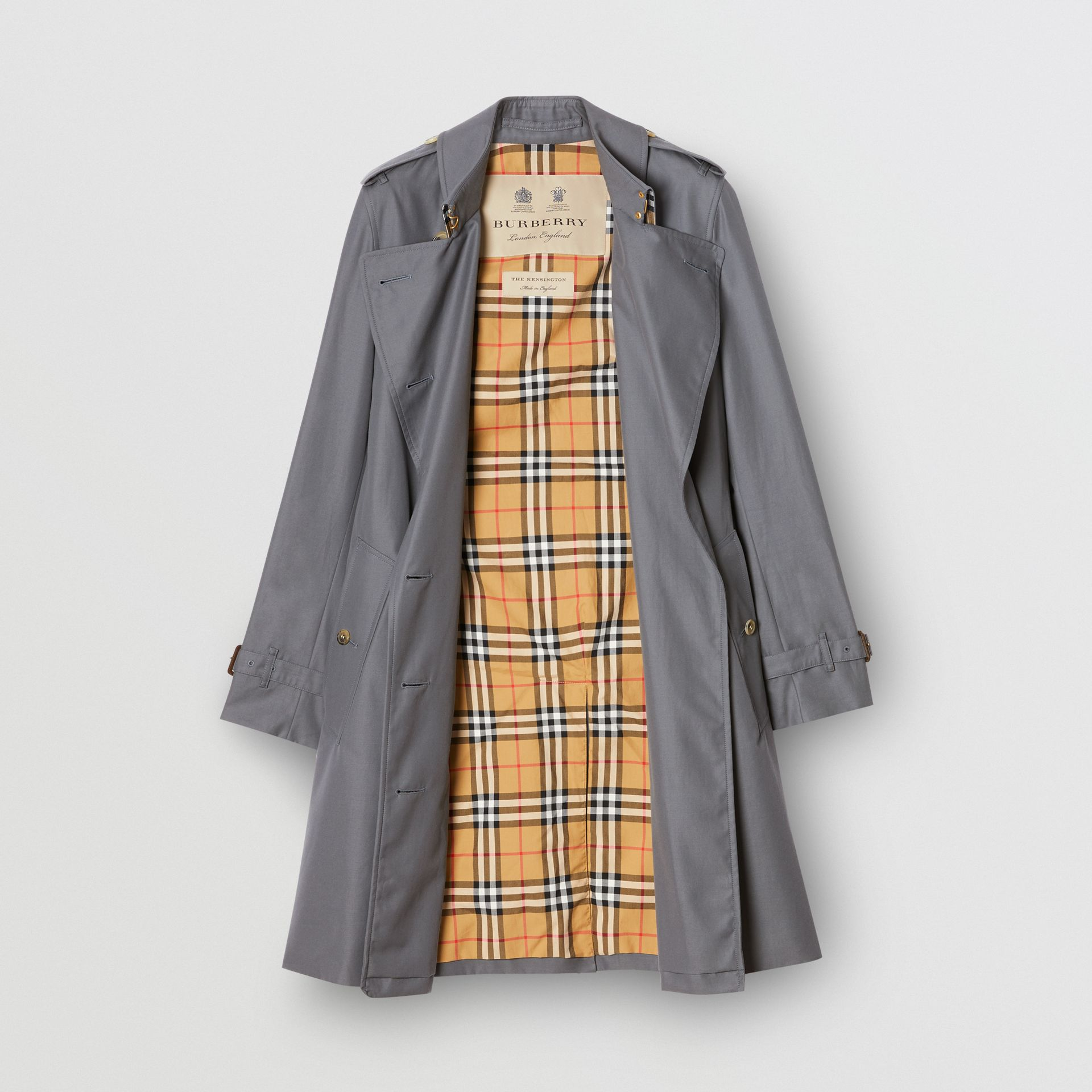 The Kensington Heritage Trench Coat in Mid Grey - Women | Burberry - gallery image 9