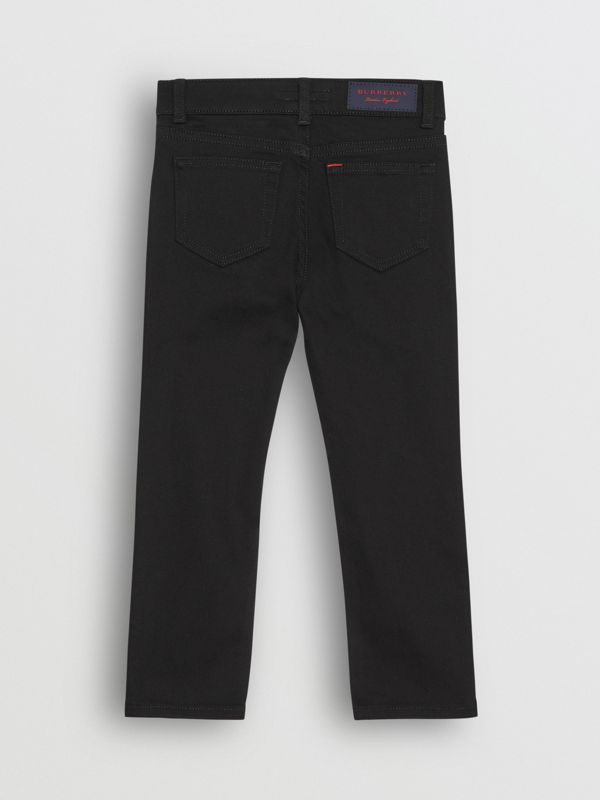 Skinny Fit Stretch Denim Jeans in Black - Boy | Burberry Canada - cell image 3