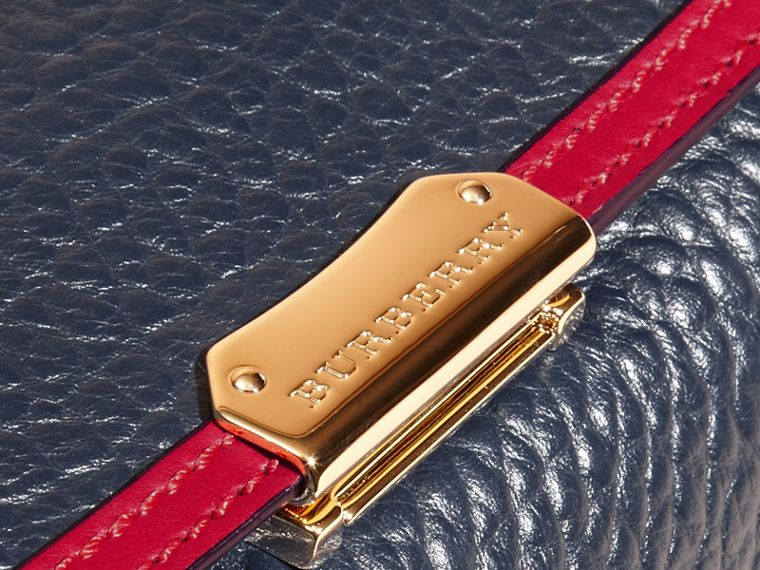 Blue carbon/parade red Medium Contrast Border Signature Grain Leather Clutch Bag - cell image 1