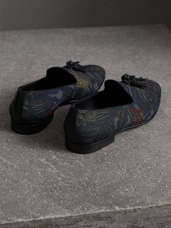 Tasselled Beasts Jacquard Loafers - Men | Burberry - cell image 2