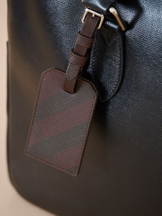 London Check Luggage Tag in Deep Claret - Men | Burberry - cell image 2