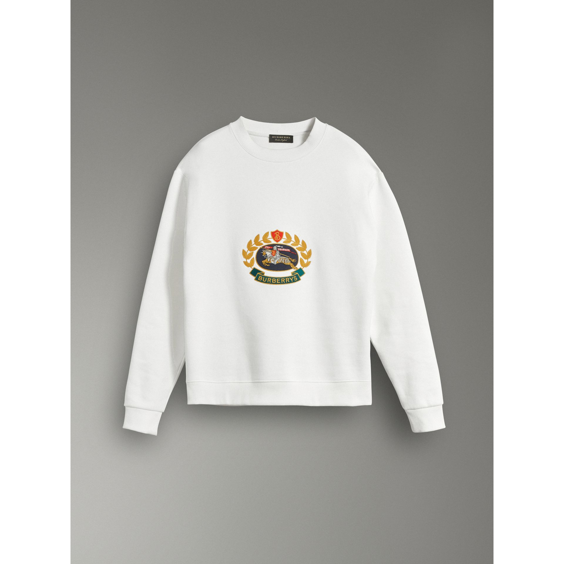 Reissued Jersey Sweatshirt in Off White - Women | Burberry United Kingdom - gallery image 3
