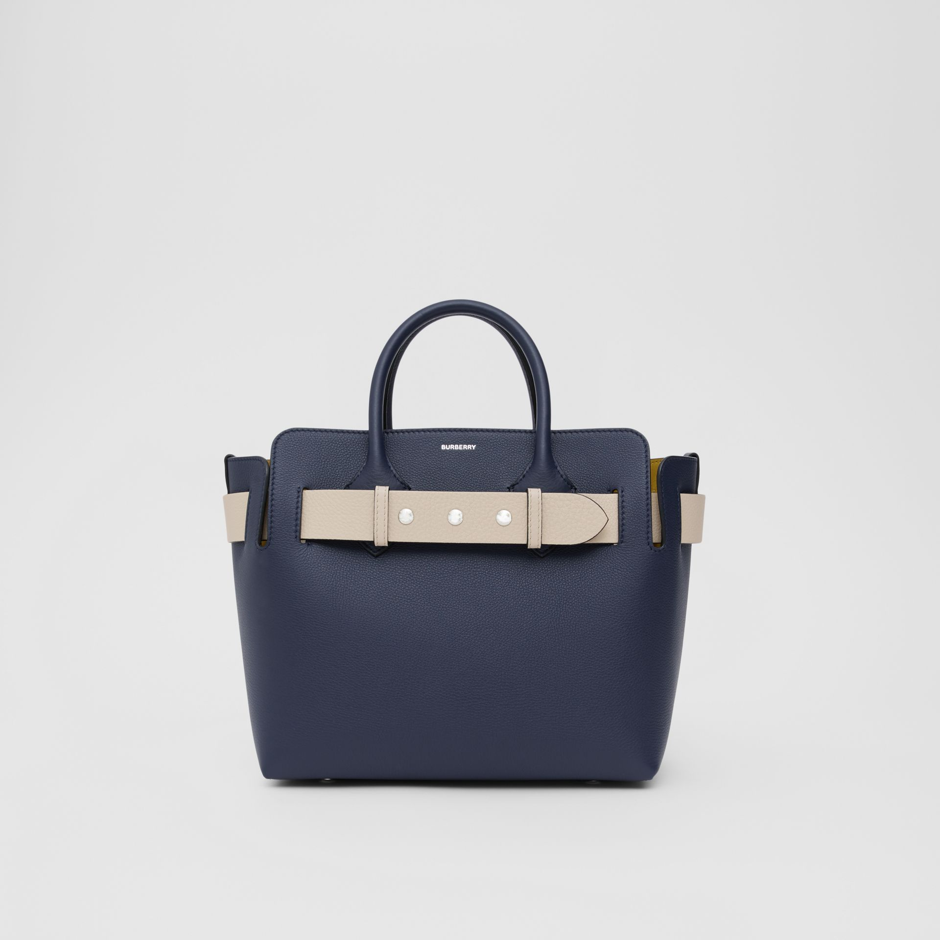 The Small Tri-tone Leather Triple Stud Belt Bag in Regency Blue - Women | Burberry - gallery image 0