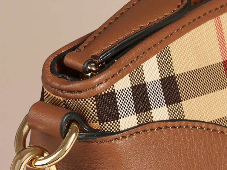 Horseferry Check and Leather Clutch Bag Honey/tan - cell image 4