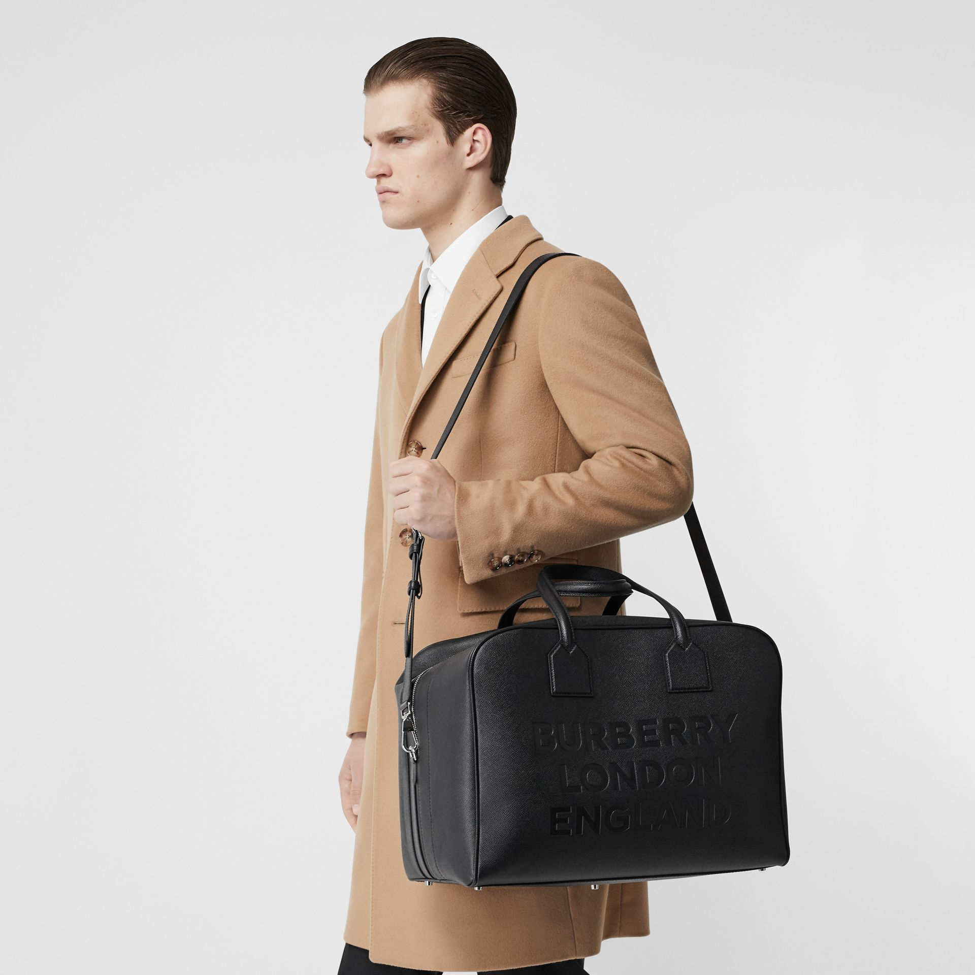 Grand sac Cube en cuir (Noir) | Burberry - photo de la galerie 2