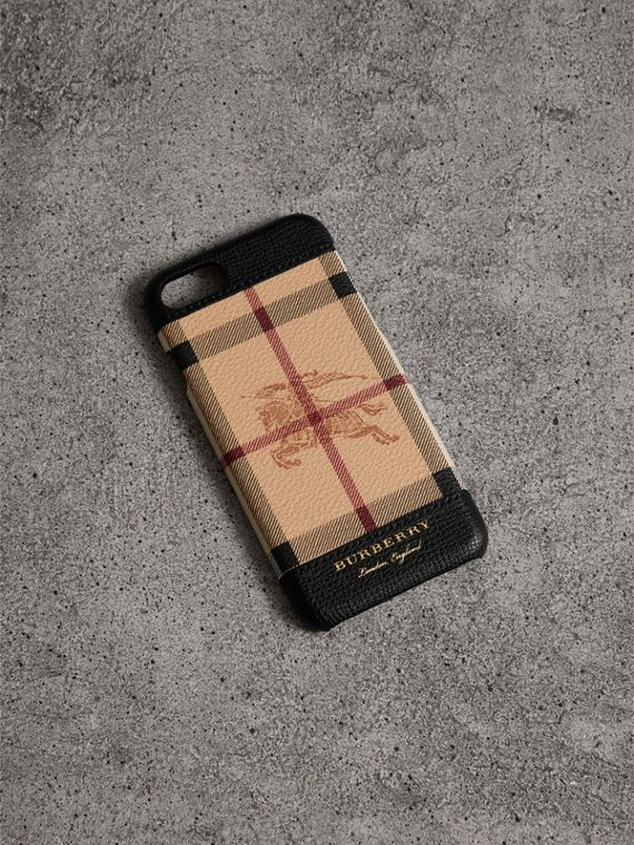 Haymarket Check and Leather iPhone 7 Case in Black