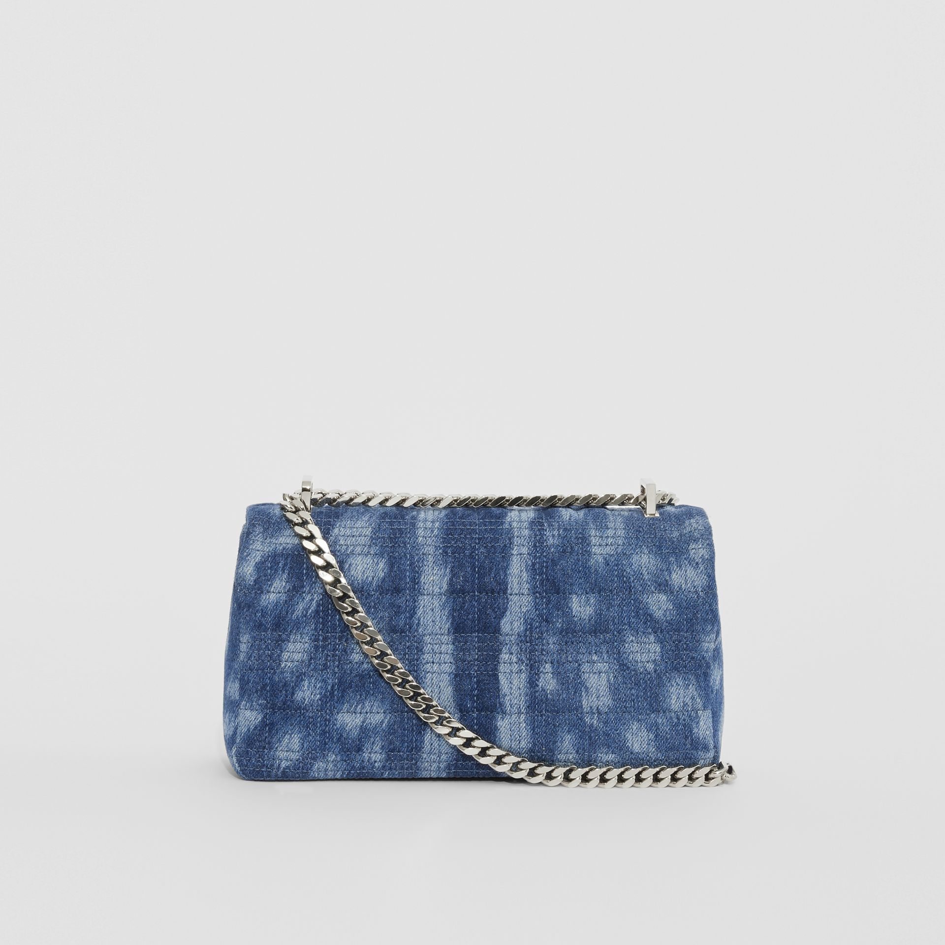 Small Quilted Denim Lola Bag in Blue | Burberry - gallery image 7