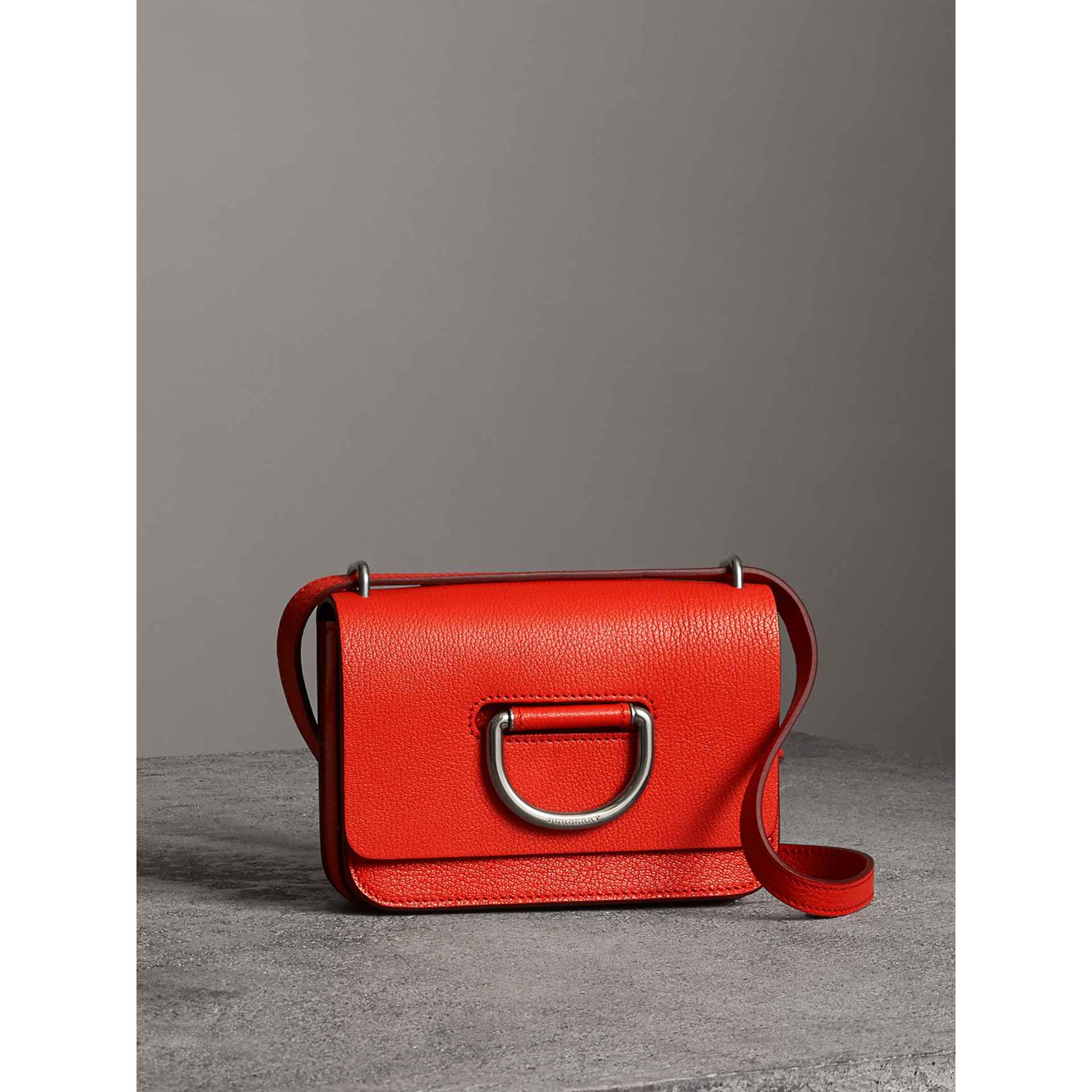 The Mini Leather D-ring Bag in Bright Red - Women | Burberry Australia - gallery image 6