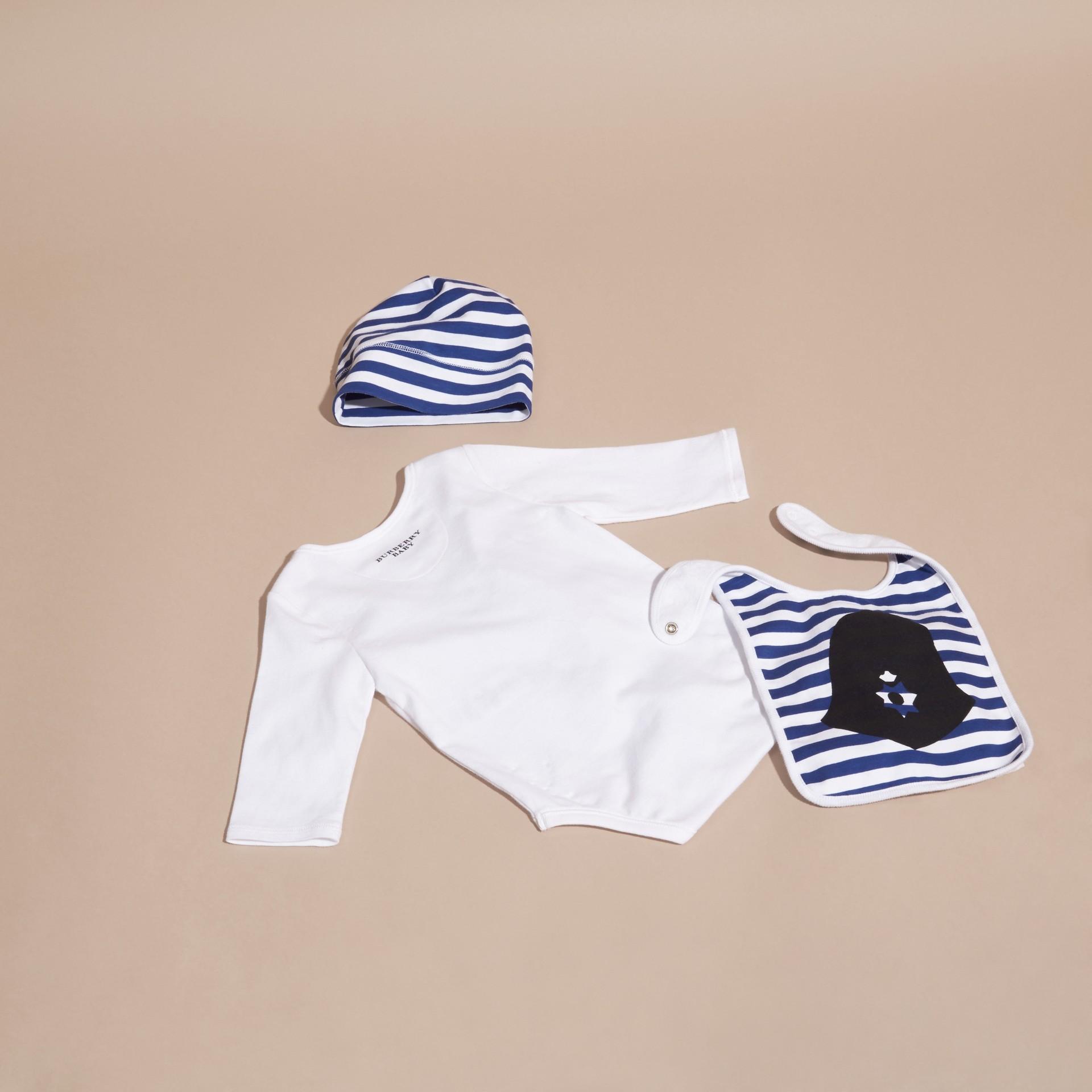 Blanc Set cadeau trois pièces en coton - photo de la galerie 3