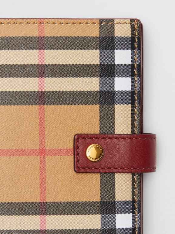Vintage Check and Leather Folding Wallet in Crimson - Women | Burberry United States - cell image 1