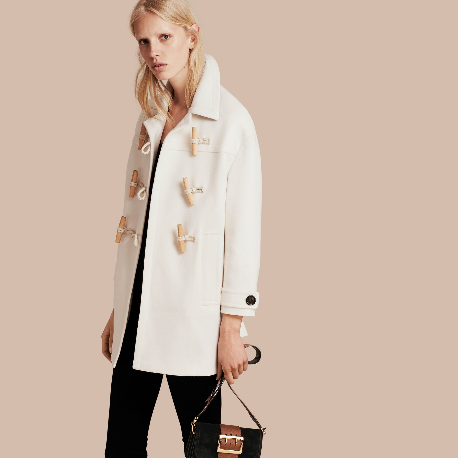 White Cashmere Duffle Coat White - gallery image 1