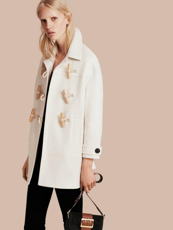 Cashmere Duffle Coat White