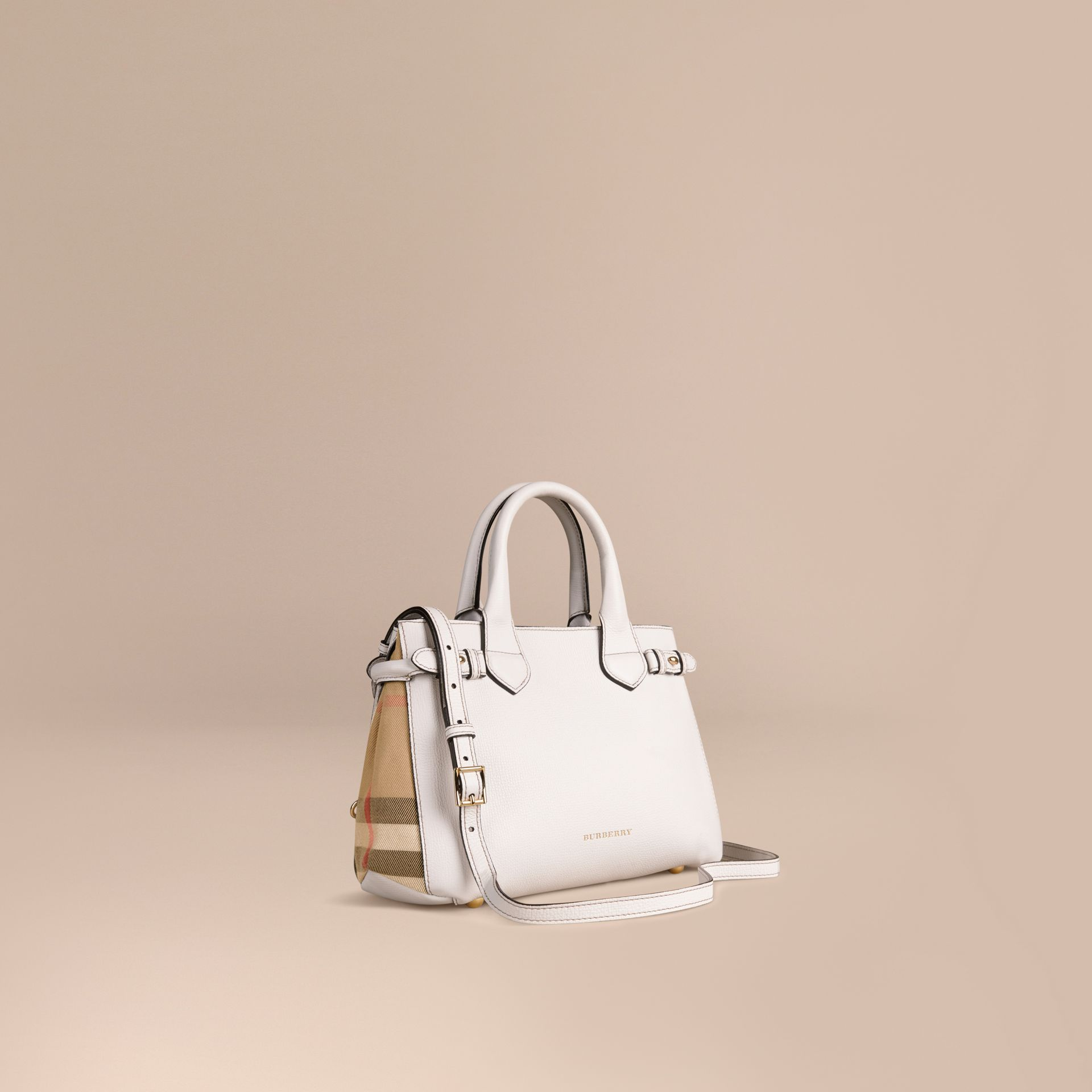 Naturel Petit sac The Banner en cuir et coton House check Naturel - photo de la galerie 1