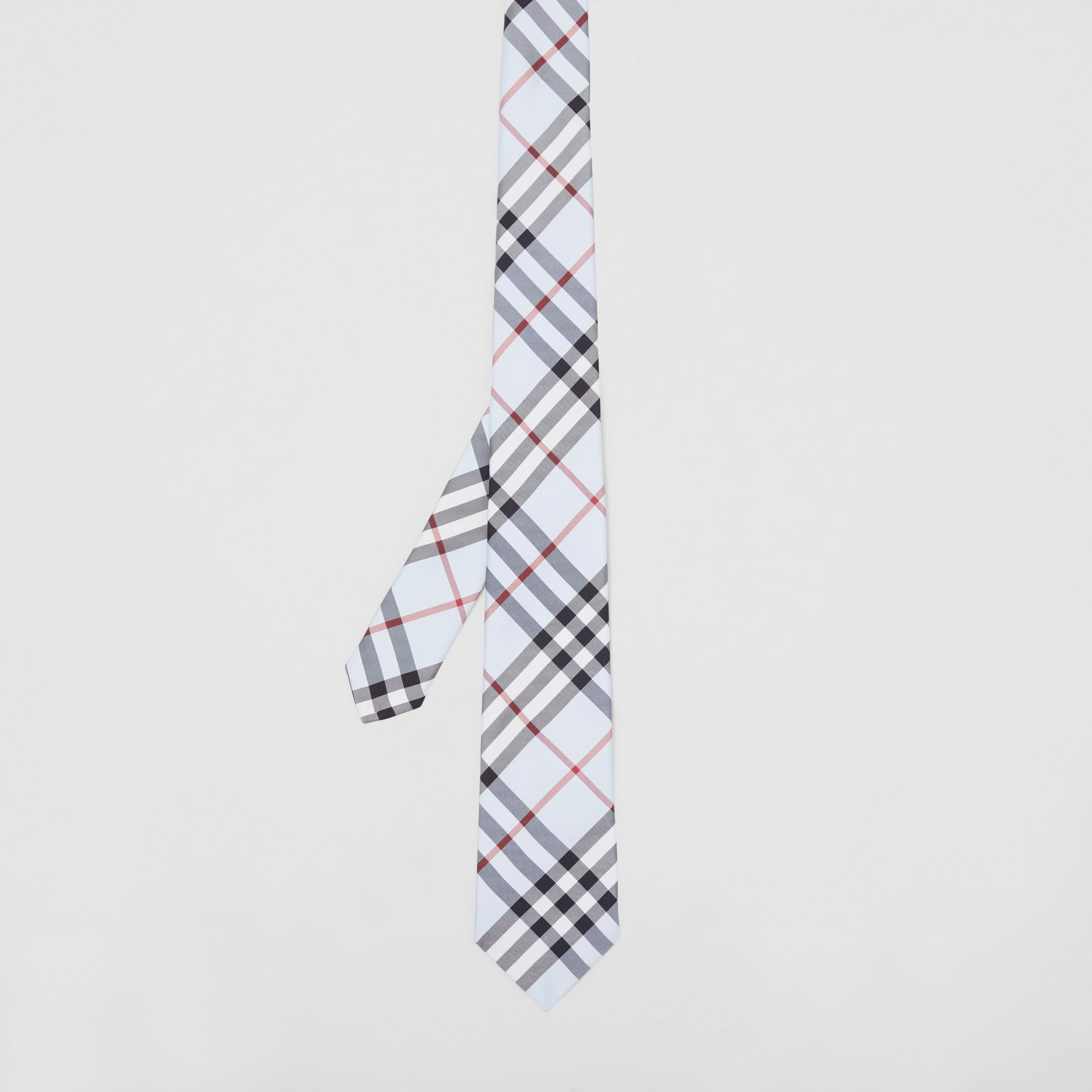 Classic Cut Vintage Check Silk Tie in Pale Blue - Men | Burberry Australia - gallery image 4