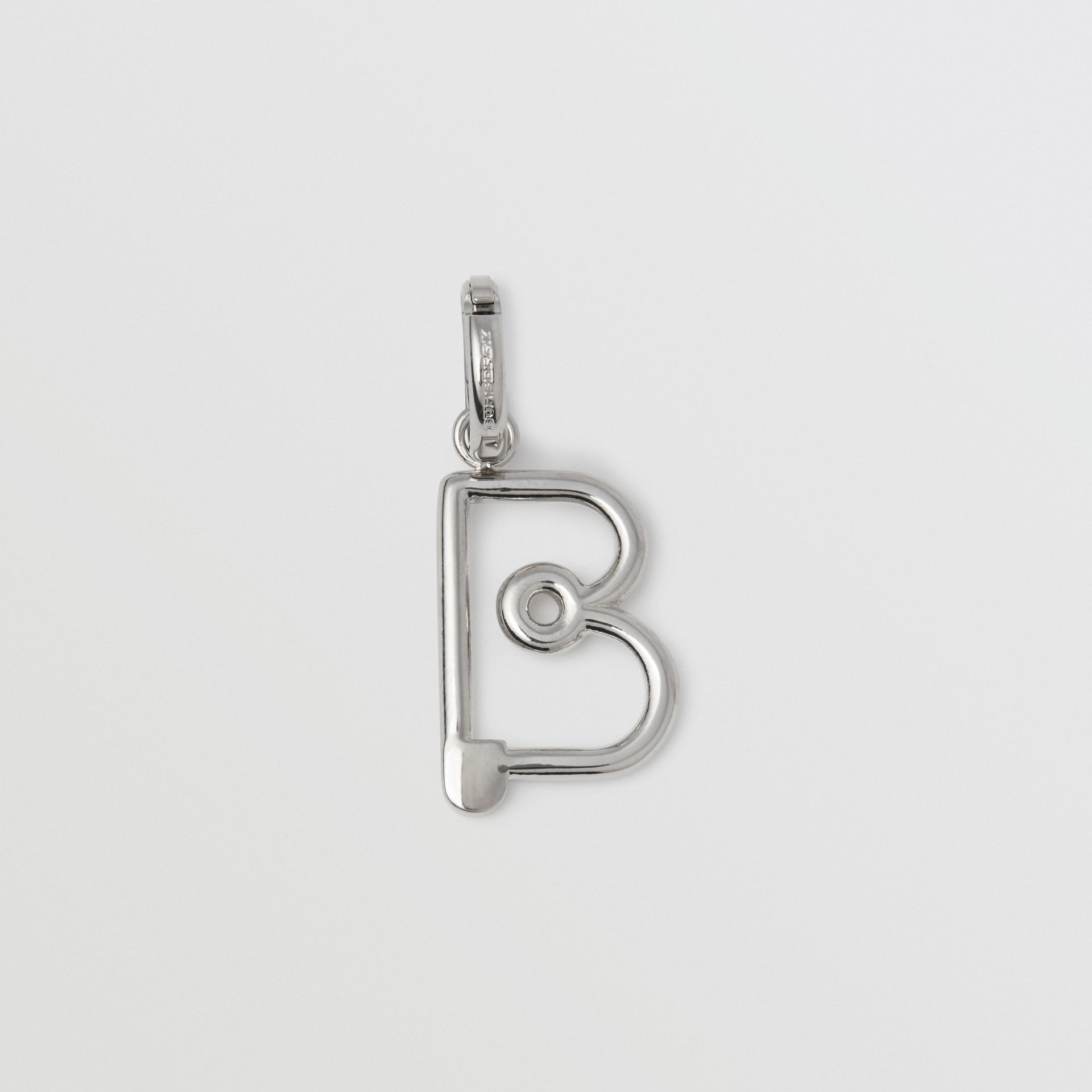 Kilt Pin 'B' Alphabet Charm in Palladio - Women | Burberry - gallery image 0