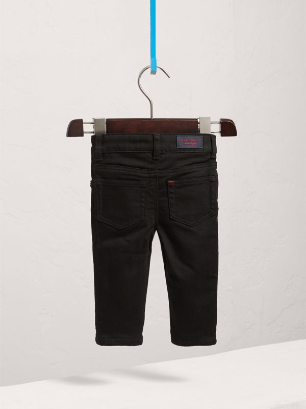 Skinny Fit Stretch Denim Jeans in Black - Children | Burberry United States - cell image 3