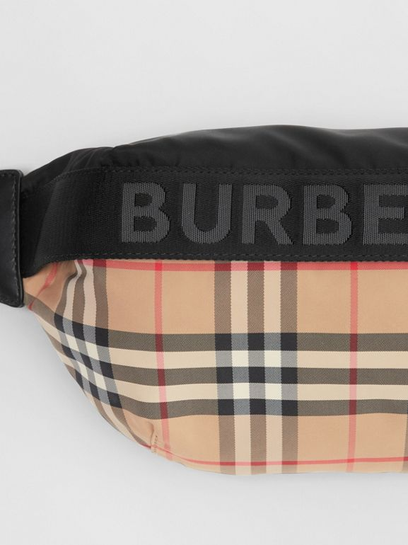 Medium Vintage Check Bum Bag in Archive Beige | Burberry United Kingdom - cell image 1