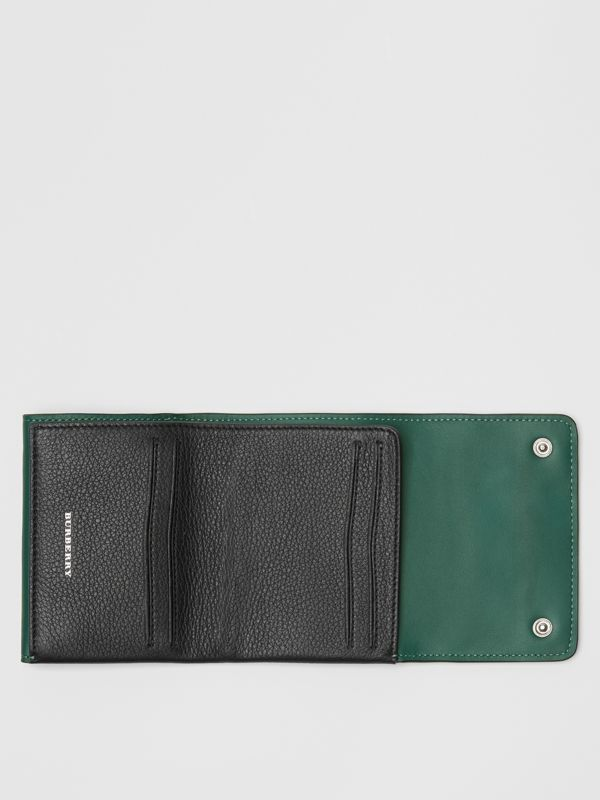 Small Leather Folding Wallet in Black - Women | Burberry - cell image 3