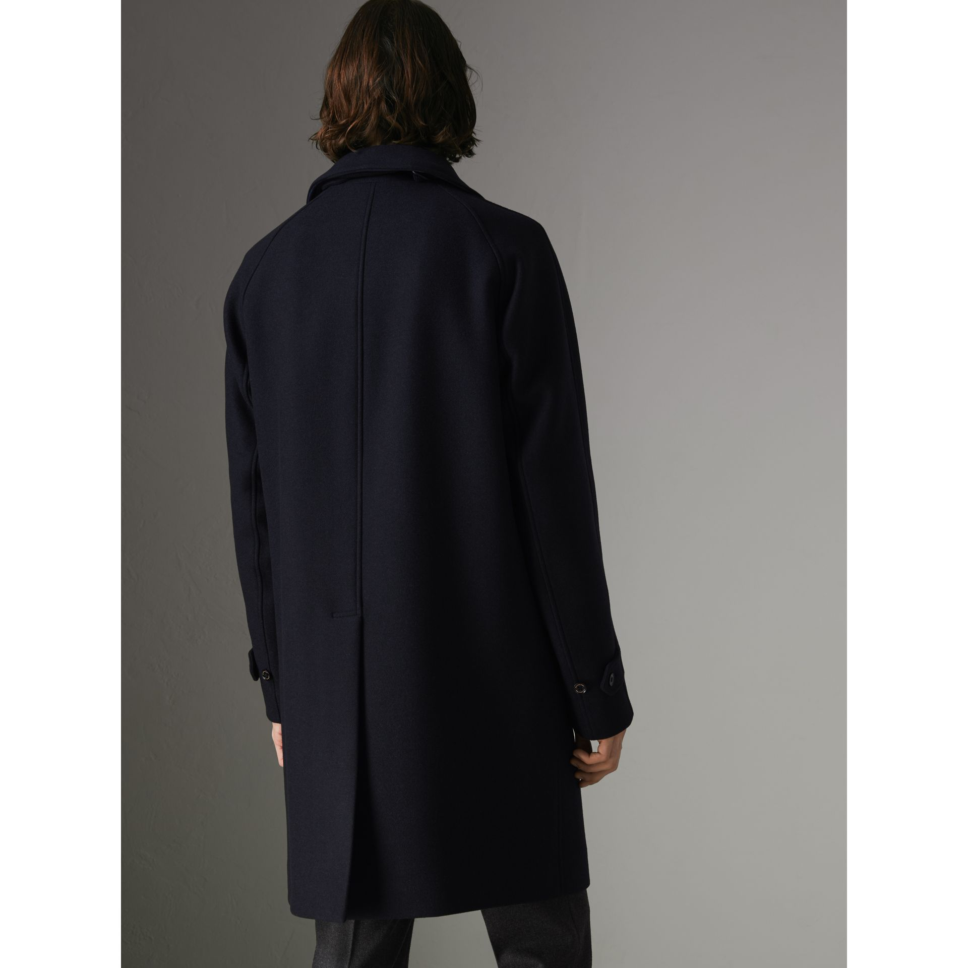 Cashmere Car Coat in Navy - Men | Burberry United Kingdom - gallery image 2