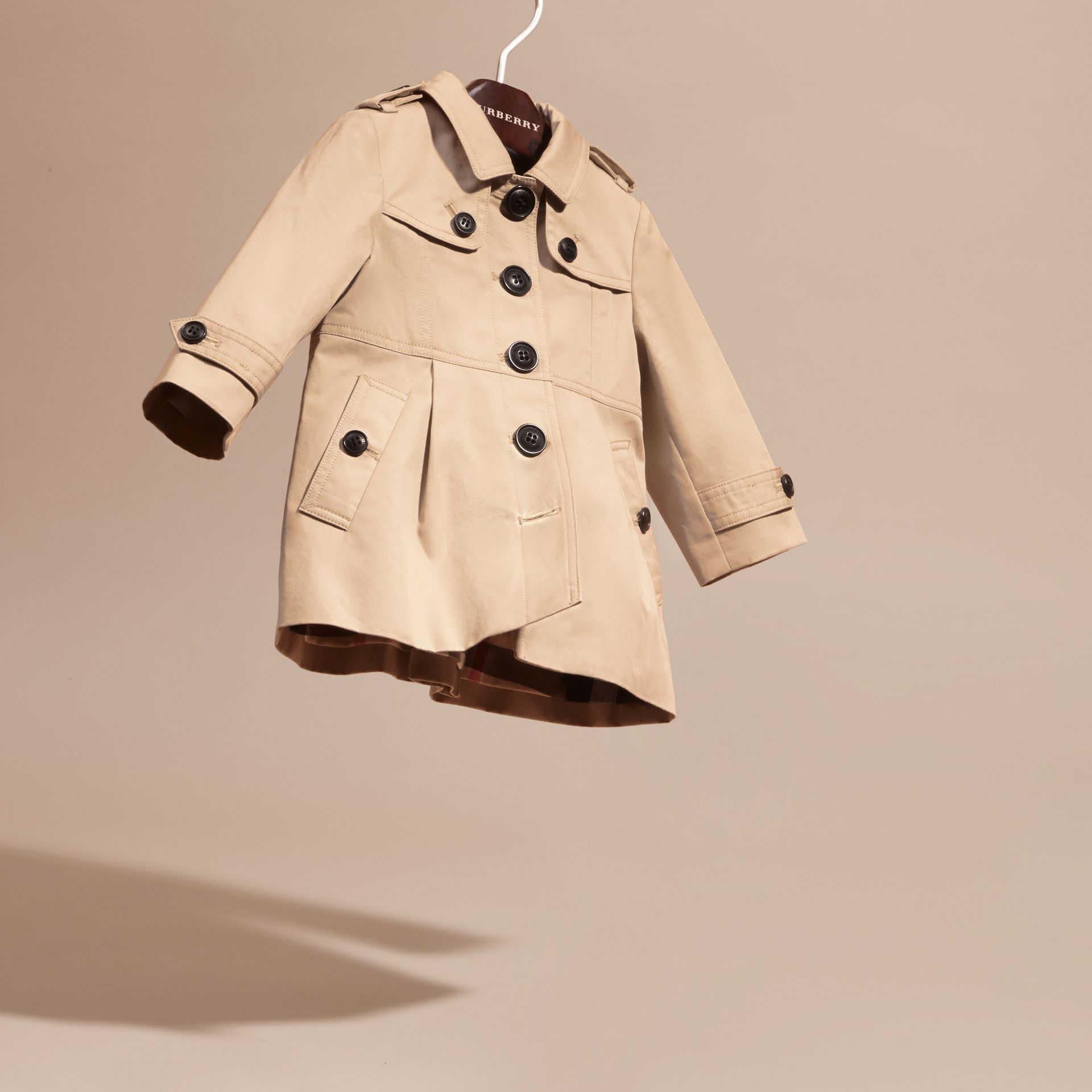 Cotton Trench Coat in Stone | Burberry - gallery image 3
