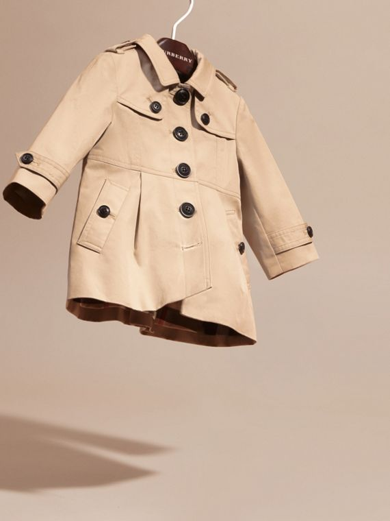 Cotton Trench Coat in Stone | Burberry - cell image 2